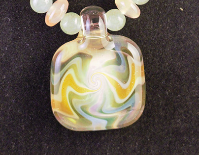 beaded glass pendants