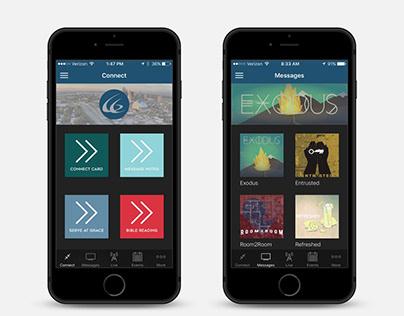 Grace Church App Design.
