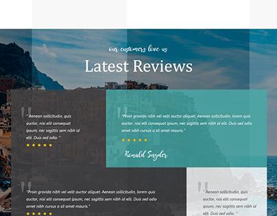 THE TOUR TRAVEL web-design