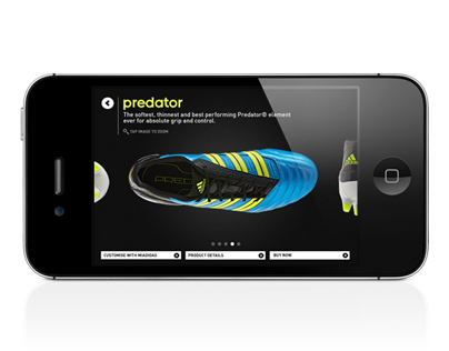 Adidas iPhone/Web Game