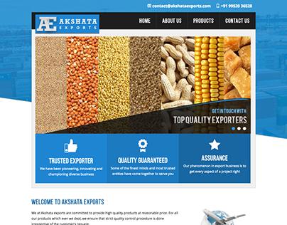 Static website for Akshata exports