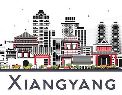 Xiangyang China City Skyline.