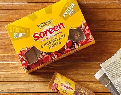 Soreen Breakfast Bakes Packaging.