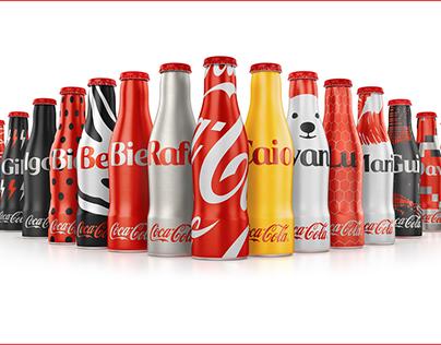 Mini-garrafinhas Coca-Cola