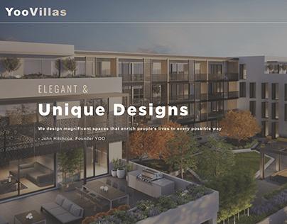 Yoo Villas Homepage Redesign