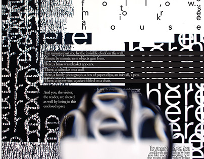 Synthesis typography poster
