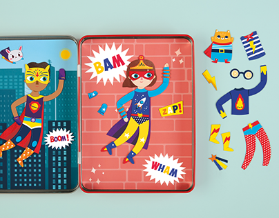 Super Kids! Magnetic Dress-Up for Mudpuppy