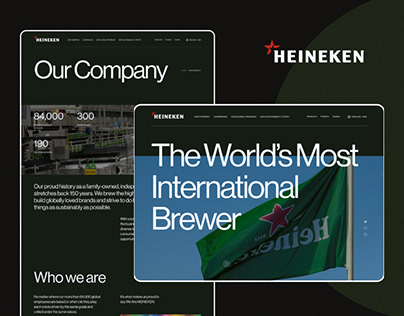 Heineken Company / Web site redesign