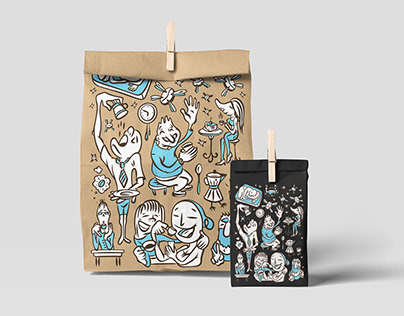 Illustrations for coffee store