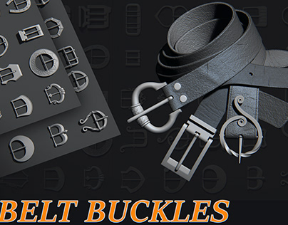 50 belt buckles on Artstation store