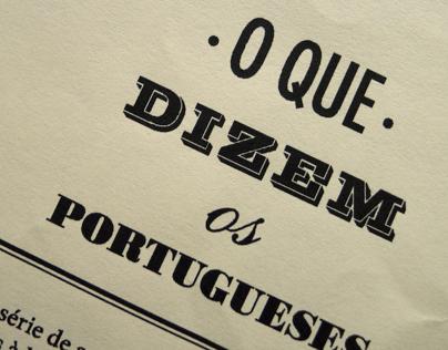 o que dizem os portugueses
