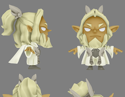 Lowpoly characters made for Krosmaster Arena (Ankama)