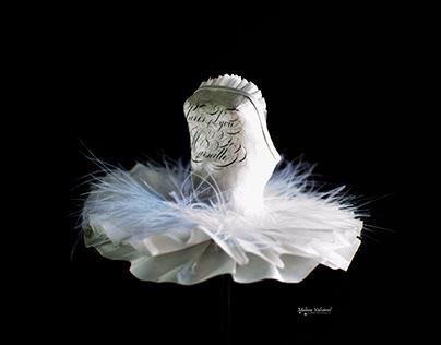 White Swan - Paper Sculpture