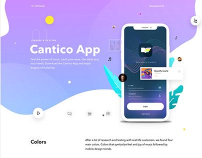 Cantico IOS Music App - UI / UX Design
