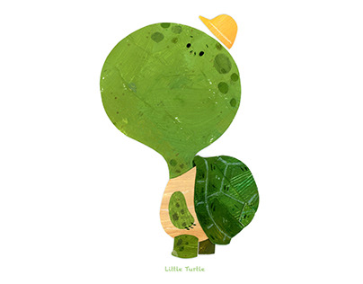 Collage Art ---- Little Turtle
