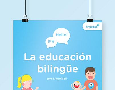 Infografía. La educación bilingüe