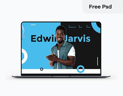 Minimal Personal Portfolio psd template free download