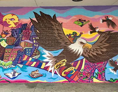 Soaring High - a mural for a public school in Brooklyn