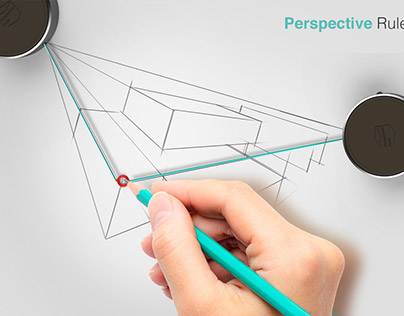 Perspective ruler