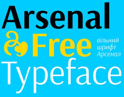 Arsenal free typeface