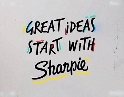 Sharpie 'Great ideas start with Sharpie'