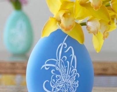 Blue and White Chrysanthemum Vase