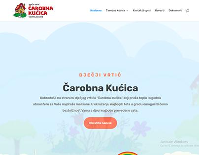 Izrada web stranice za dječji vrtić Čarobna kućica