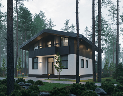 GREEN Cube house