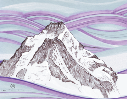 Mountains and Routes- Illustrations
