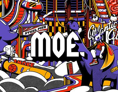 Moe. Atlantic City Poster コンサート