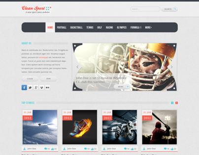 Clean Sport - HTML Template