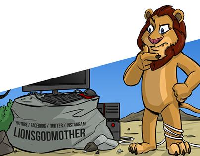 Twitch Design Illustration Webcomic LionsGodmother