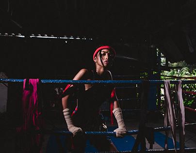 Thai boxing shoot