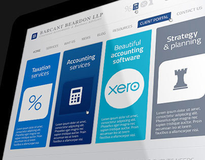 Accountancy web design