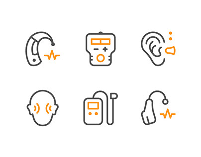 Hearing aid icons