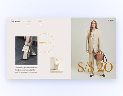 Landing pagefor fashion accessories brand