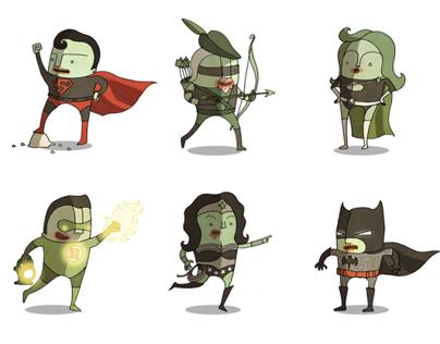 Superheroes Halloween Zombie Edition