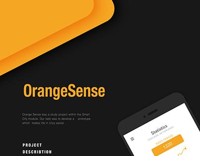 UI UX DESIGN - APP concept - OrangeSense