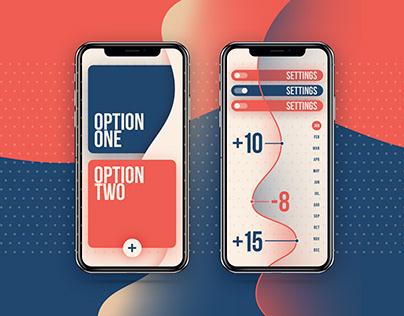 Retro UI App Iphone x Mockup