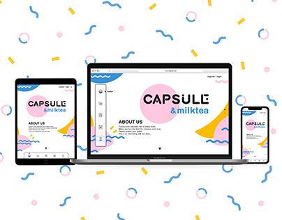 Capsule&milktea Website