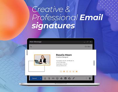 Creative & Professional Email signatures