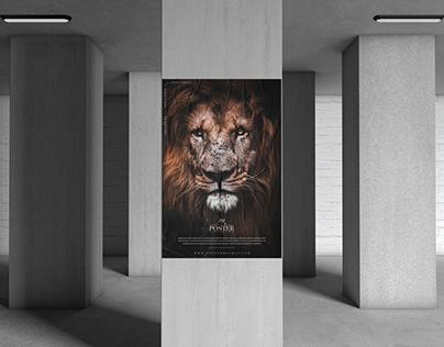 Underground Pillar Poster Mockup Free