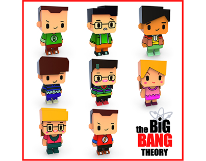 Papertoy_The Big BANG THEORY
