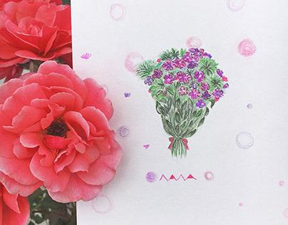 An art album for my dear friend 💜❤️