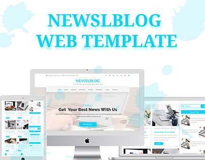 Newslblog-Magazine Blog Site Template