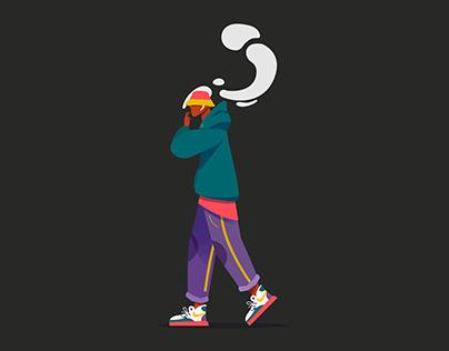 Male character flat illustration