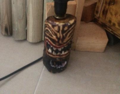 Shark Tiki God Lamp design