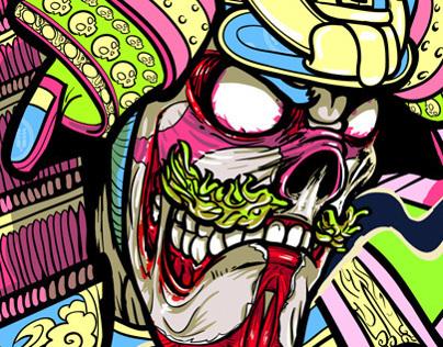 Undead Samurai - Skateboard Design