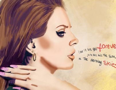 Lana Del Rey - Summertime Sadness Illustration