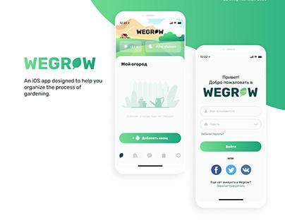 App design concept WEGROW